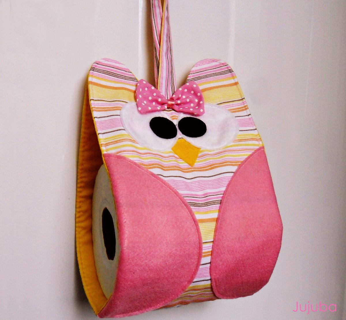 Porta papel higiênico de tecido feito artesanalmente – passo a passo