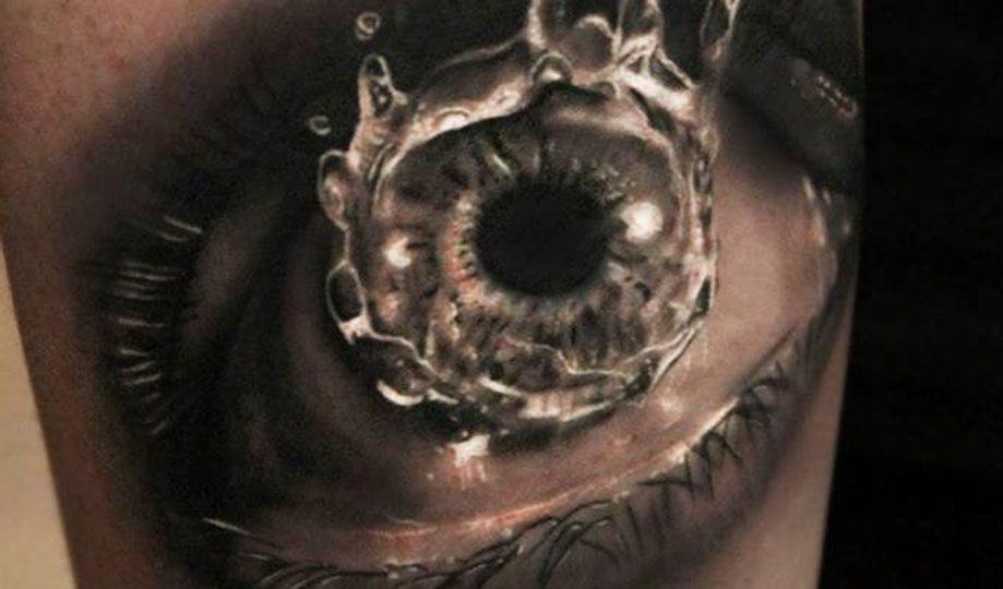 olho com água 3d