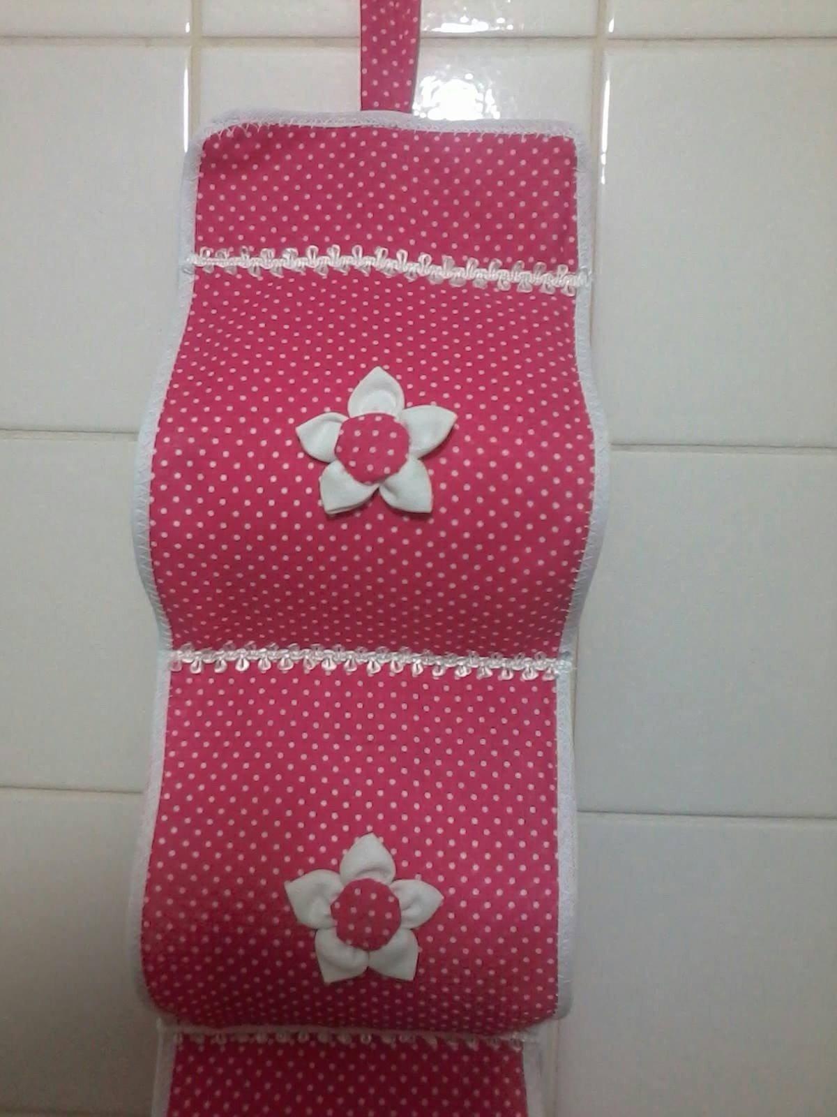 Porta papel higi nico de tecido feito artesanalmente for Porta or