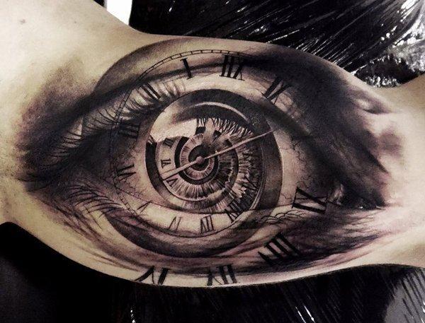 tatuagem de olho para o braço