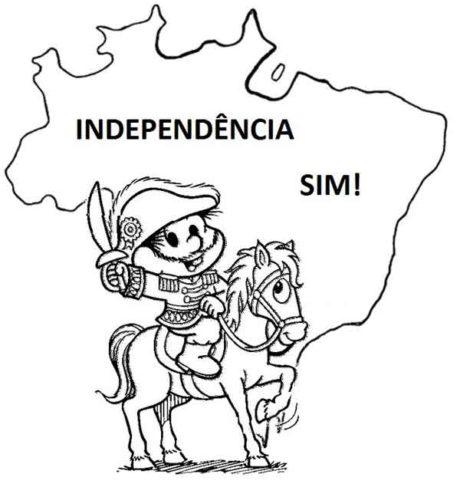 desenhos da independencia do brasil 5 460x484 - DESENHOS E ATIVIDADES da Independência do Brasil