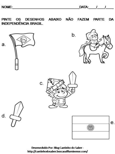 imagem 25 460x613 - DESENHOS E ATIVIDADES da Independência do Brasil