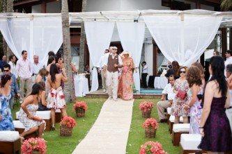 casamento simples casa de praia