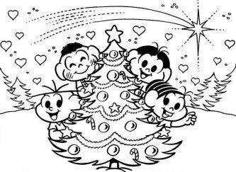 desenhos de natal para imprimir turma da monica