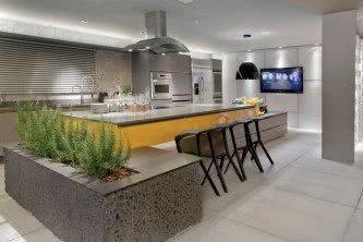 perfeitos cozinha planejada de concreto
