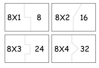 tabuada do 8 para imprimir