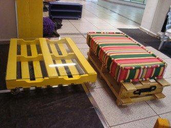 tipos de móveis feitos de paletes