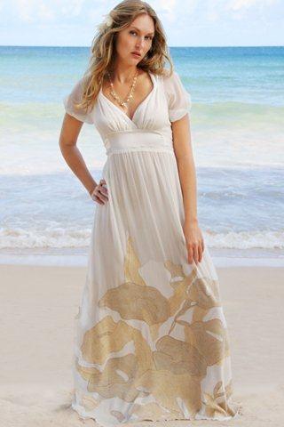 vestidos de casamento simples na praia