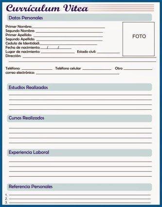 curriculum para preencher baixar e imprimir