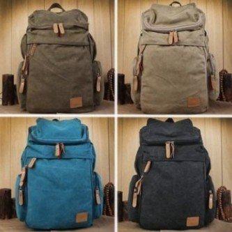 fotos de mochila masculina de lona