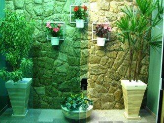 imagens de jardins de inverno simples