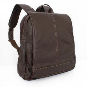 mochila masculina couro simples