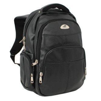 mochila masculina couro sintético