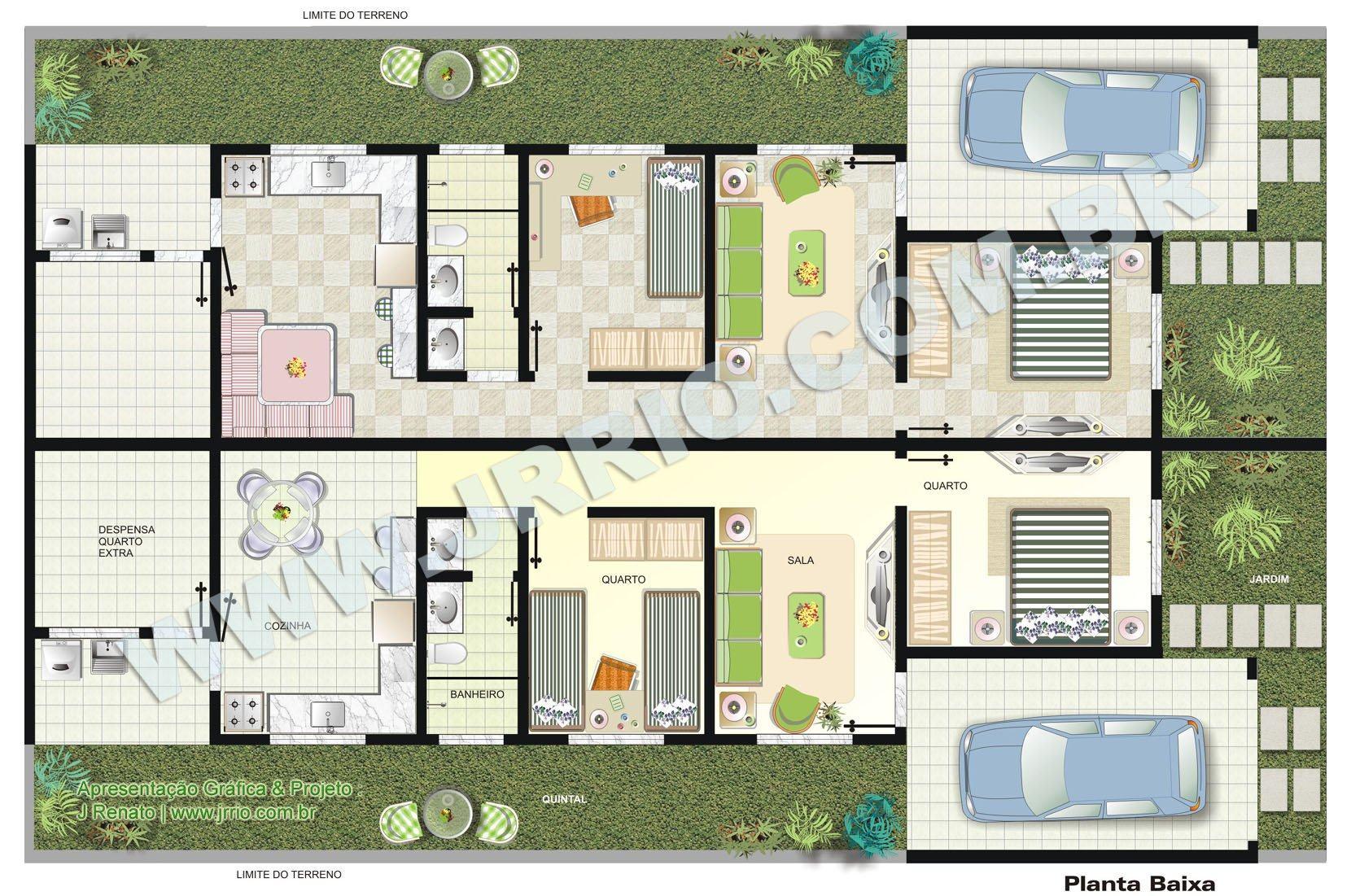 V rias op es em plantas de casas geminadas de 2 quartos for Plantas para casa