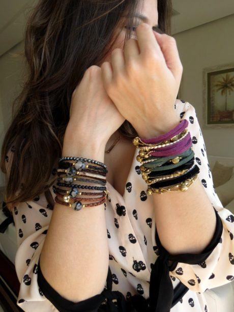 pulseira feminina de couro 460x613 - Como usar Pulseira feminina de couro para quem gosta de acessórios