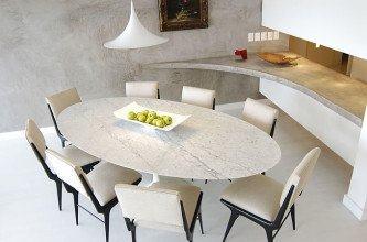 belas mesa oval 8 lugares