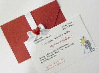 belos convites de casamento simples civil