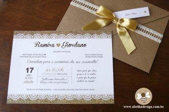 convites de casamento simples e chique