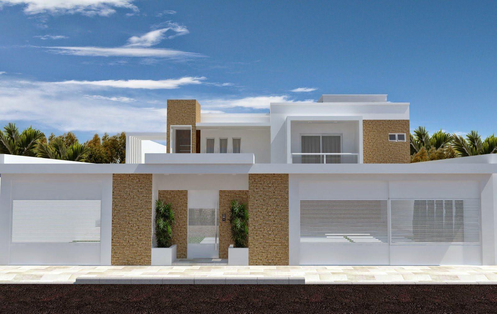 Muros de casas modernas estilos que voc vai gostar for Casa moderna en xkekos