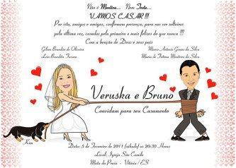 fotos de convites de casamentos engraçados