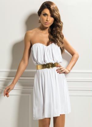 fotos de vestido tomara que caia branco