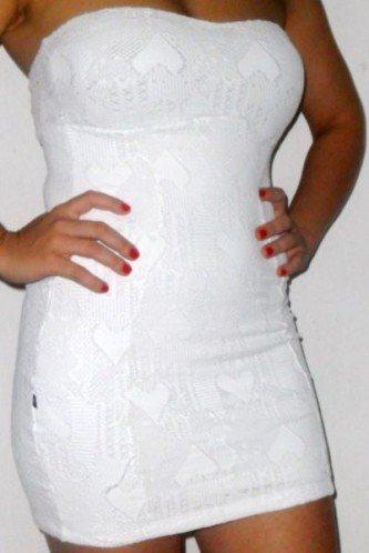 lindos vestido tomara que caia branco de renda