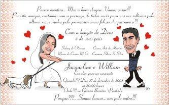 melhores convites de casamentos engraçados