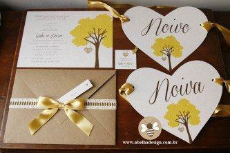 modelos de convites de casamento simples e chique