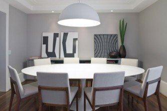 modelos de mesa oval 8 lugares