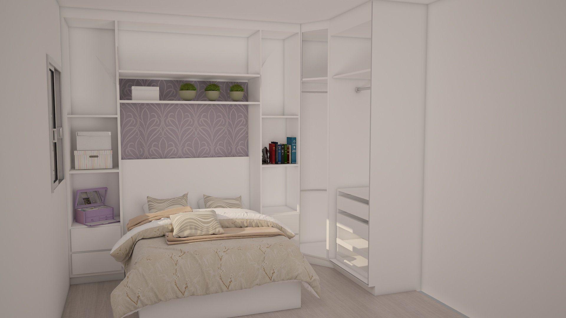 Armário Quarto Pequeno ~ Armário pequeno para quarto de solteiro ou hóspedes Decor&MODA biz