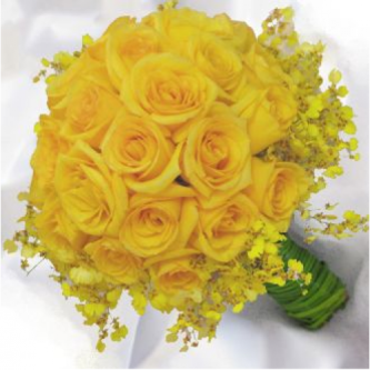 buquê de rosas amarelas para noivas