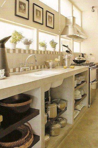 cozinha planejada de concreto