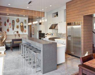 cozinha planejada de concreto moderna