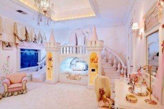 decoração de quarto infantil de princesa de luxo