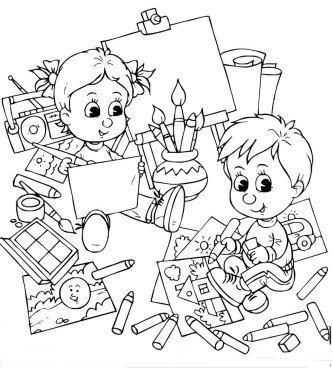desenhos de volta as aulas