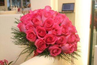 fotos de buquê de rosas pink