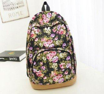 mochila escolar para adolescentes floral