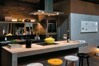 moderna cozinha planejada de concreto