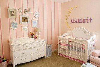 papel de parede para quarto de bebê rosa