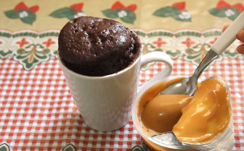 RECEITA: Como fazer bolo de caneca de microondas