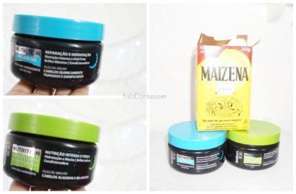 como hidratar cabelos ressecados Maizena e Creme hidratante