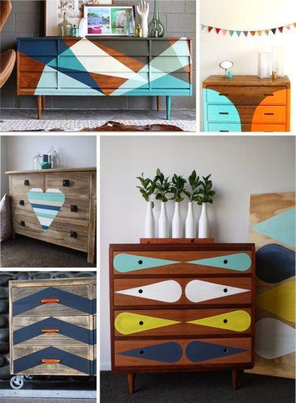 como pintar móveis antigos de uma forma criativa