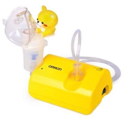 nebulizador para bebê amarelo com ursinho