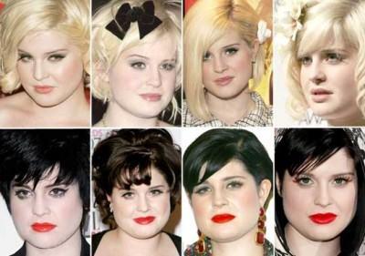 cortes de cabelo curto para gordas Kelly Osbourne dicas