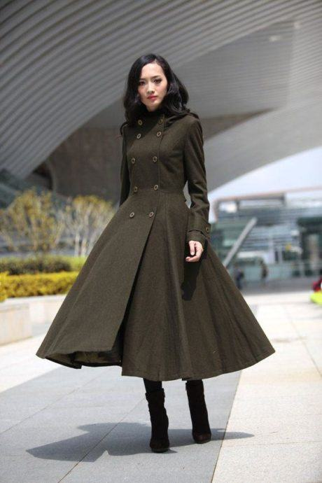 9 1 460x690 - Lindos CASACOS ESTILO VESTIDOS moda outono inverno