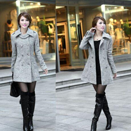 casacos de inverno para usar com vestido curto 460x460 - CASACOS DE INVERNO femininos modelos da moda
