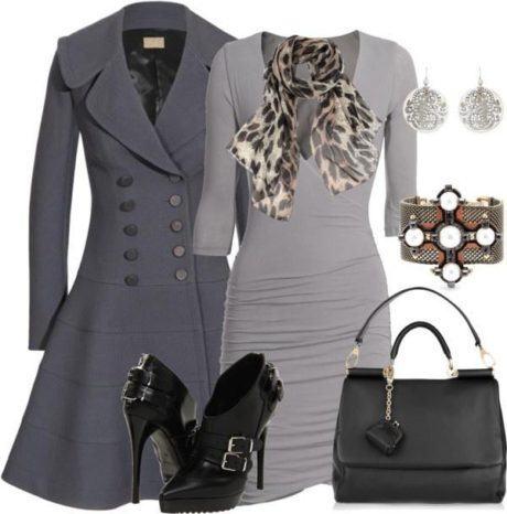 casacos estilo vestidos look completo 460x466 - Lindos CASACOS ESTILO VESTIDOS moda outono inverno