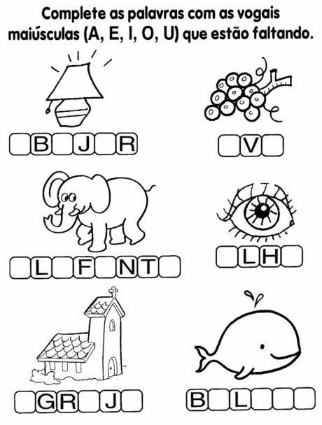 alfabetizacao para imprimir 460x608 - Atividades de Alfabetização para Imprimir bem divertidas