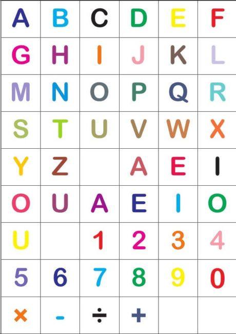 Letras do alfabeto para Imprimir, recortar colorir ( modelos ...