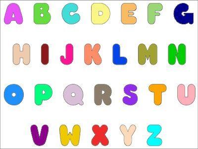 Letras do alfabeto para Imprimir, recortar colorir ( modelos )
